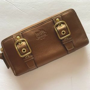 Coach Bronze Leather Wallet NWOT
